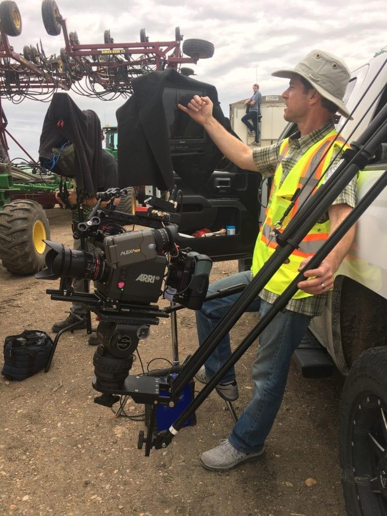 cinematographer with a jib arm